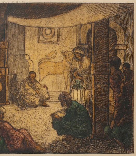 Reading the Scriptures in Kandy, Ceylon by Charles W. Bartlett(Indian Print)