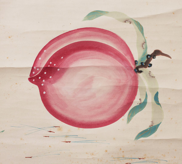 Peach by Domoto Insho(Japanese Scroll)