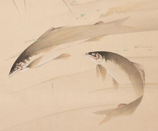Two Fish(Japanese Scroll)