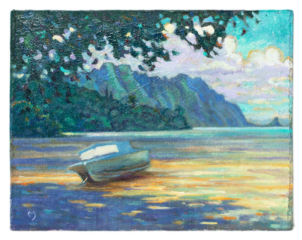 Low Tide at He'eia by Dennis Morton(Hawaiian Painting/Drawing)