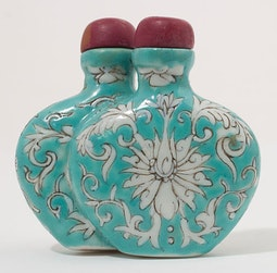 Blue Ceramic Double Form Snuff Bottle