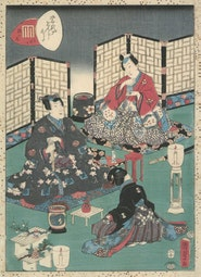 Tale of Genji, Chapter 32 by Utagawa Kunisada II