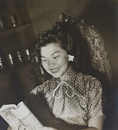 Chinese Woman Reading a Book by Given Tang