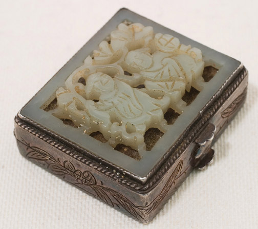 Jade & Silver Pill Box(Chinese Functional Object)