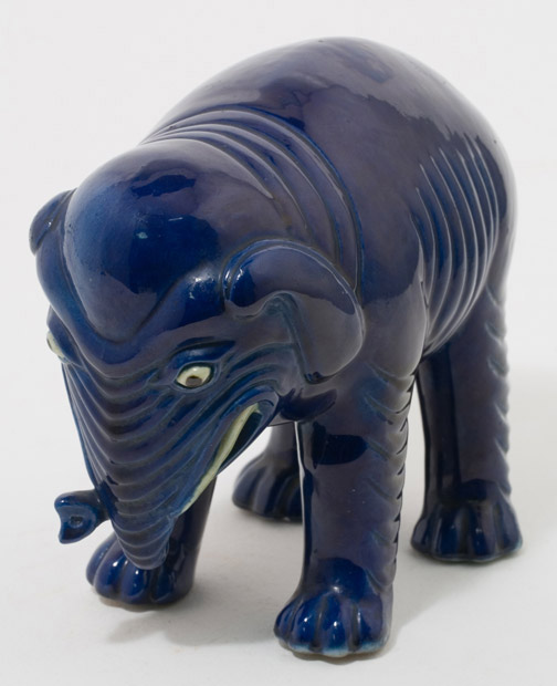 Blue Elephant(Chinese Sculpture)