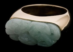 White Jadeite Ring