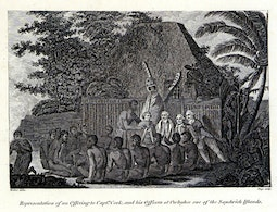 Offering to Captain Cook at Owhyhee by John Webber