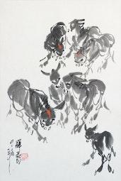 Donkeys by Chong Xin