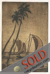 Katamarangs (Catamarans), Ceylon, I (16/75) by Charles W. Bartlett