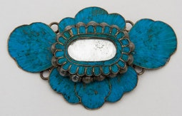 Chinese Ornament with Blue Kingfisher Feathers