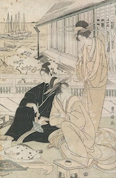 Courtesans in Teahouse by Utagawa Toyokuni I