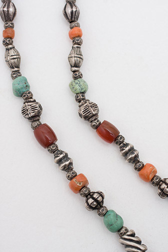 Coral & Turquoise Necklace(Tibetan & Himalayan Jewelry)