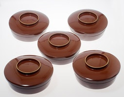 Set of 5 Lacquer Cake Boxes
