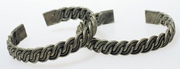 Pair of Braided Silver Bracelets