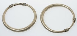 Pair of Miao Silver Bracelets