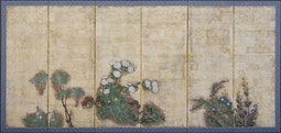 6-Panel Floral Screen