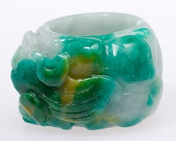 Jadeite Fu Dog Ring