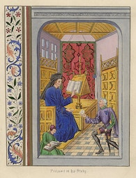 Manuscript Illumination: Froissart in his Study