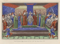 Manuscript Illumination: Coronation of Pope