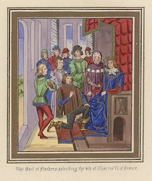 Manuscript Illumination: Earl of Flanders