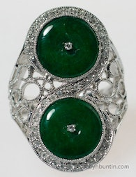 Jadeite & Diamond Ring