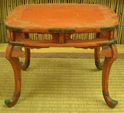 Red Lacquer Stand / Pedestal