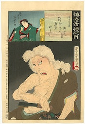 Kikugoro V: One Hundred Baiko  by Toyohara Kunichika