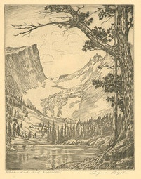 Dream Lake and Hallet's by Lyman Byxbe