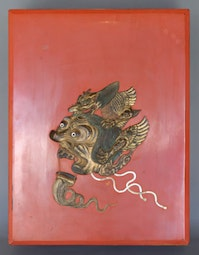 Lacquer Box  with Bugaku mask design
