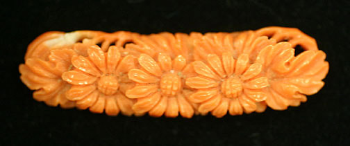 Coral obidome carving(Japanese Jewelry)