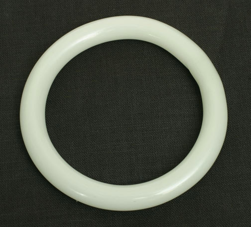 White Glass Bangle(Chinese Jewelry)