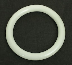White Glass Bangle