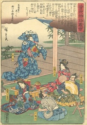 Revenge of the Soga Brothers (21) by Hiroshige