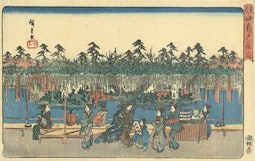 Wisteria at Kameido by Hiroshige