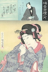 One Hundred Roles of Baiko by Toyohara Kunichika