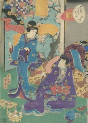 Tale of Genji, Chapter 11 by Utagawa Kunisada II