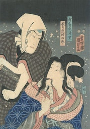 Lovers in Snow by Utagawa Kunisada II