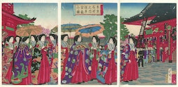 Empress and Court by Hiroshige III