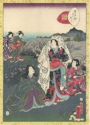 Tale of Genji, Chapter 38 by Utagawa Kunisada II