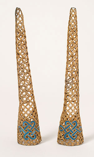 Pair of Filigree Fingernail Guards(Chinese Jewelry)