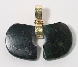 Jade Split Ring Pendant