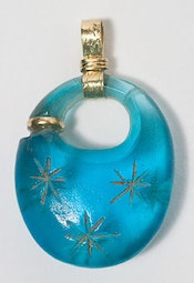 Thai Blue Glass Pendant