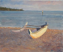 Outrigger Canoe by Fred Salmon