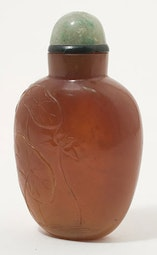 Caramel Jade Snuff Bottle