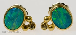 Opal Earrings by Tomi