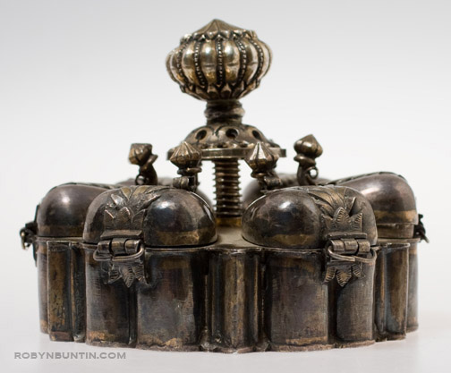 Indian Silver Cosmetic Box(Indian Functional Object)