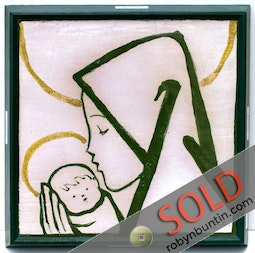 Mother & Child Tile by Jean Charlot