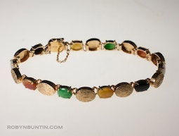 Gold and Jadeite Bracelet